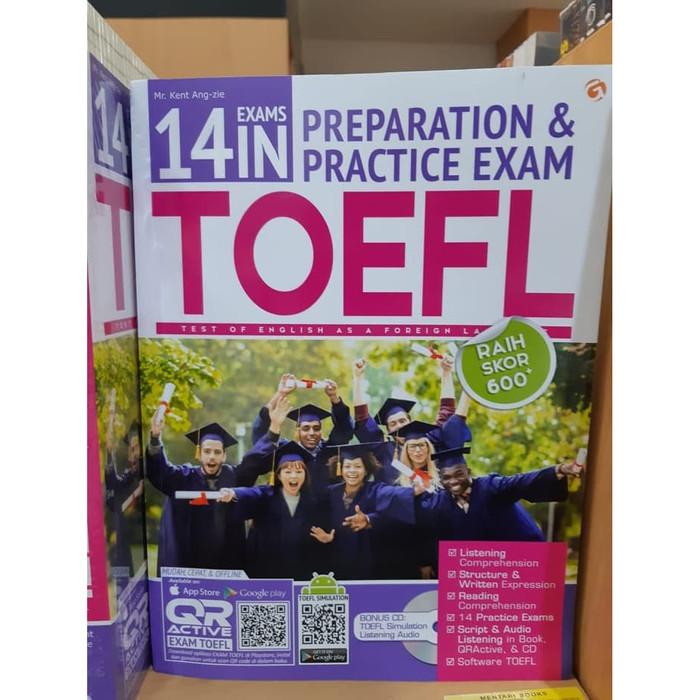 harga 14 exams in preparation & practice exam toefl . mr kent ang zie Tokopedia.com