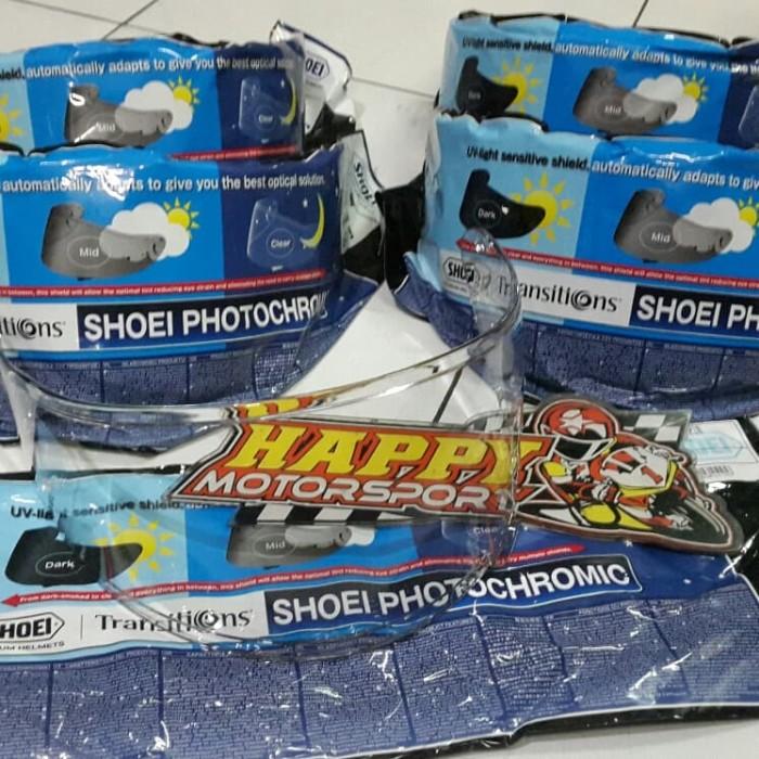 Foto Produk Visor kaca helm Photochromic Shoei Z7 X14 original Japan bisa 2 warna dari Happy MotorsportKadipiro