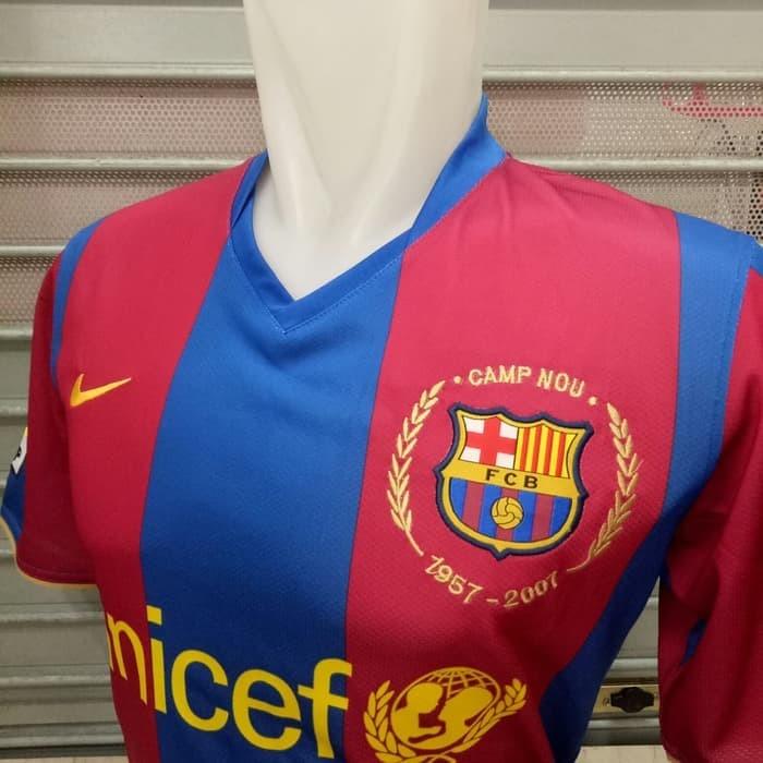1b89ecb2055 Jersey Kaos Baju Bola Retro Barca Barcelona Home 2007/2008 Grade Ori