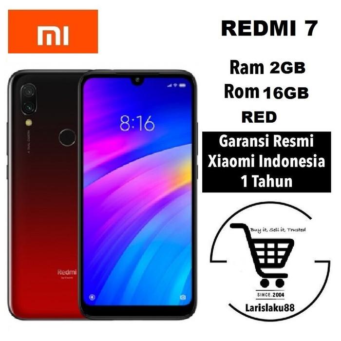harga Xiaomi redmi 7 2/16 ram 2gb rom 16gb garansi resmi tam - red Tokopedia.com