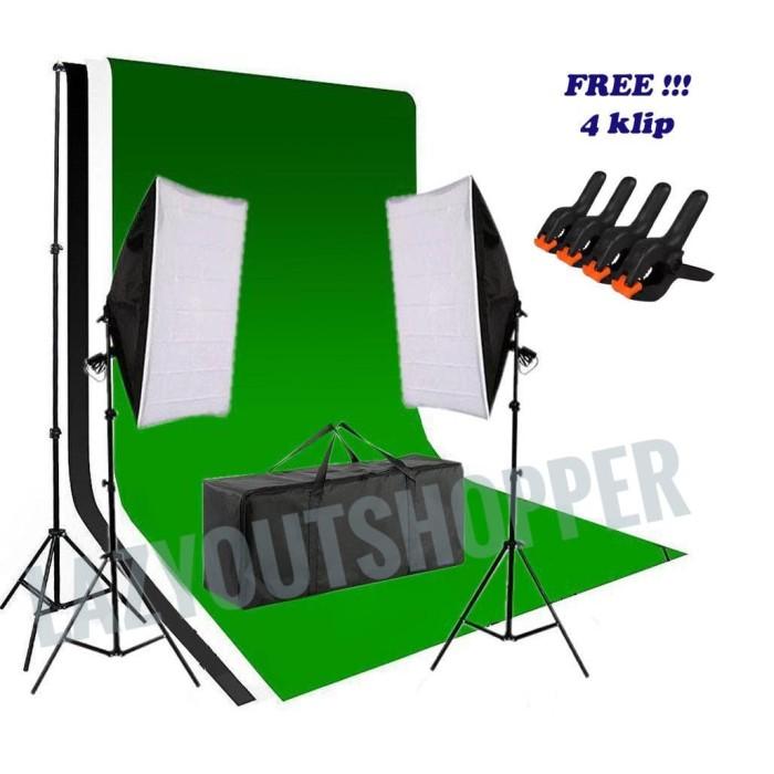 Foto Produk Paket lighting set plus background foto studio dari lazyoutshopper E Centre