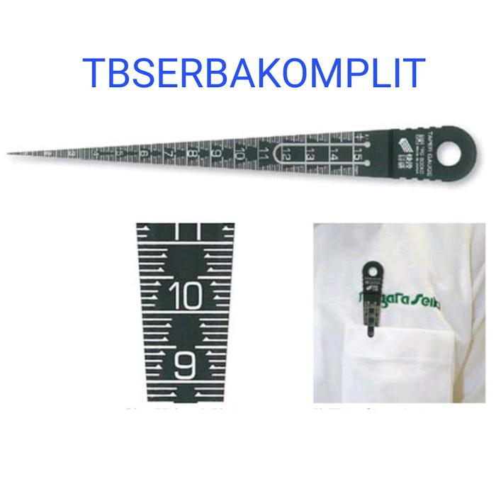 NIIGATA SEIKI SK Plastic Taper Gauge 1-15 mm TPG-800KD made in Japan