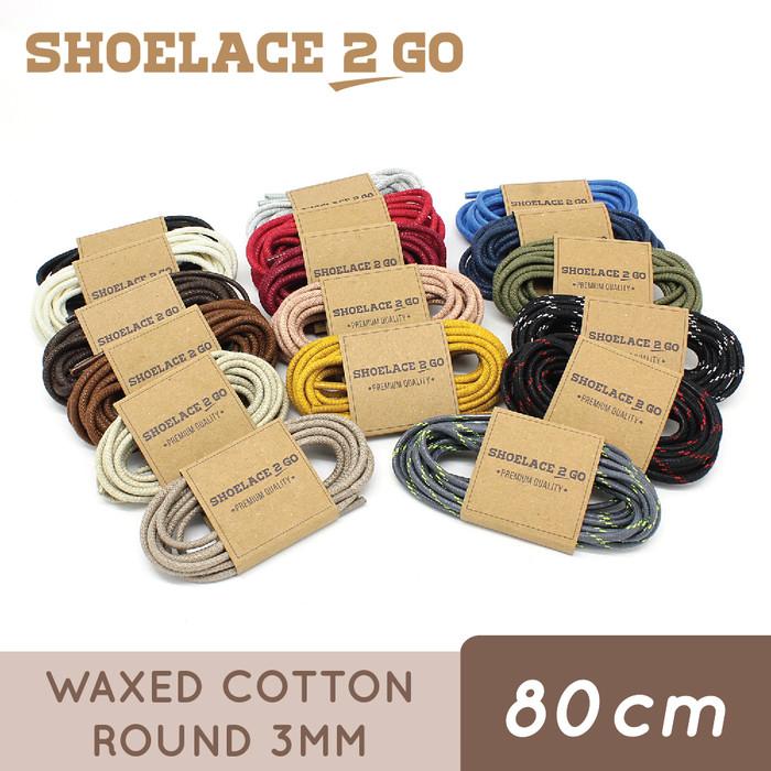 Foto Produk Shoelace 2 Go WR3 80cm [3mm] Tali Sepatu Bulat Lilin / Waxed Round dari Shoelace 2 Go