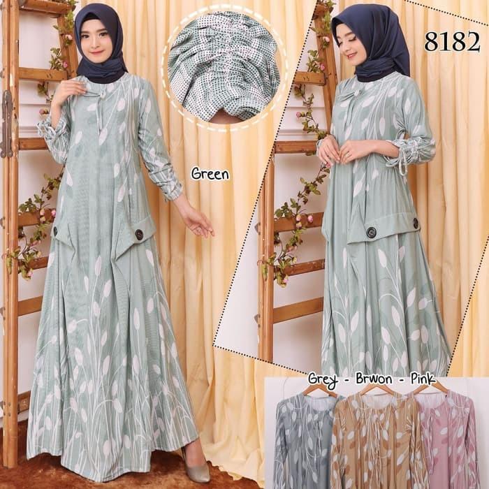 Jual Baju Muslim Terbaru Baju Gamis Wanita Gamis Bcl Jersey Belmont 8182 Genteng Aulia Hijab Market Tokopedia