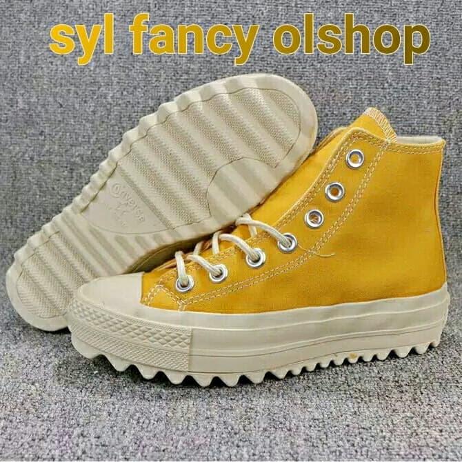 Jual Sepatu Converse Hi Yellow Platform Rihanna Kuning As Ct