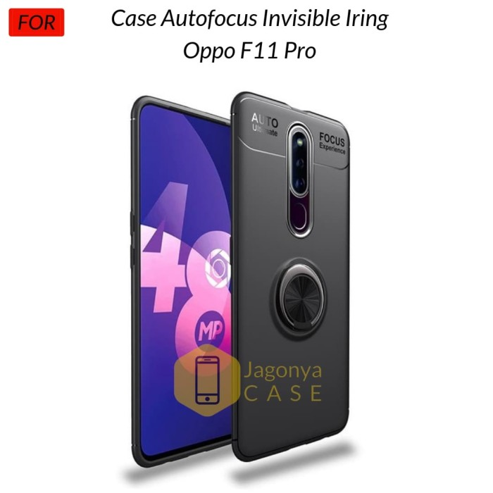Foto Produk Case Oppo F11 Pro Autofocus Invisible Iring Soft Case - Hitam dari Jagonya Case