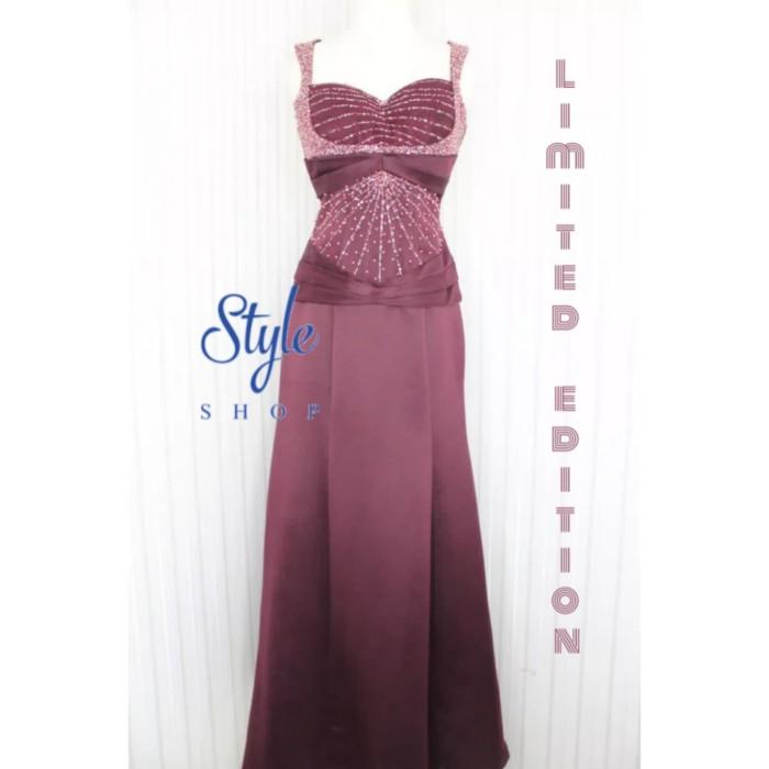 Jual Gaun Pesta Gaun Malam Long Dress Simple Elegant Warna Merah Maroon K Kota Bandung Styleshop1803 Tokopedia