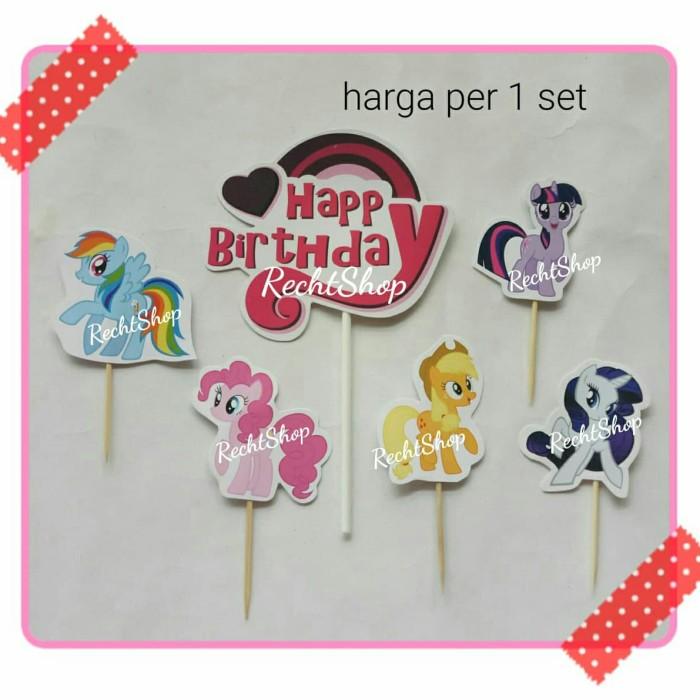 Jual Satu Set Topper Kue Ulang Tahun Karakter My Little Pony Kota Bekasi Recht Shop Tokopedia