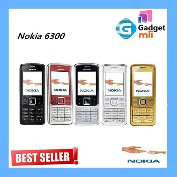 NOKIA 6300 BLACK,SILVER,RED BERGARANSI - Silver