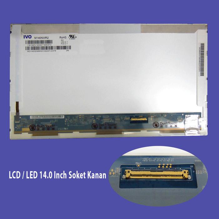 harga Led screen panel laptop notebook 14.0 (40 pin-soket kanan) compaq 510 Tokopedia.com