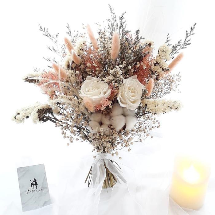 Jual Rustic Wedding Bouquet Hand Bouquet Buket Bunga Buket Pernikahan Kab Sleman Jefe Flower Frame Tokopedia