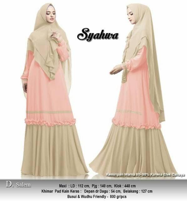 Jual Boombastis Baju Gamis Wanita Terbaru Syahwa Syari Ceruti Premium Matraman Nora Goods Tokopedia
