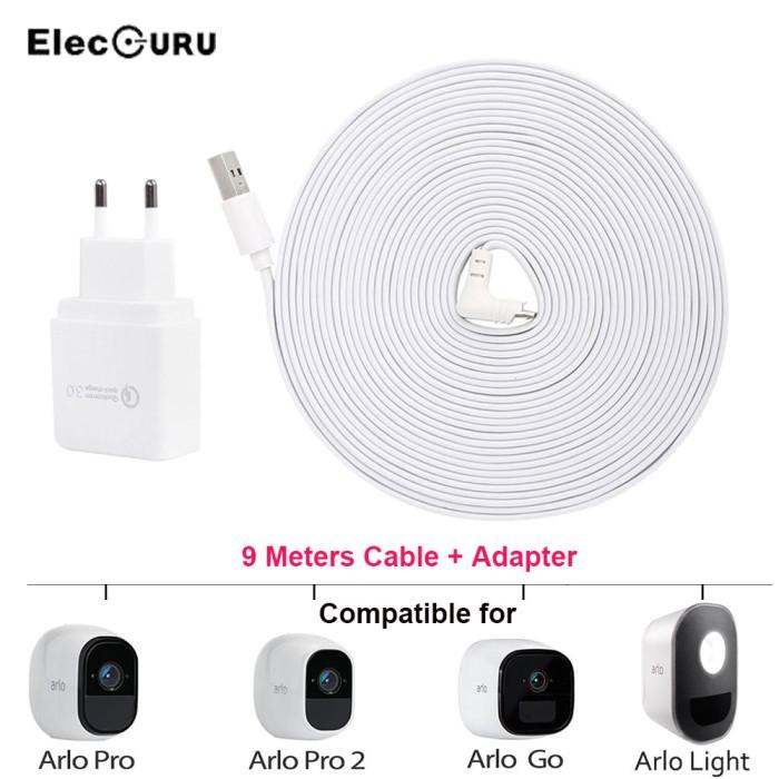 Jual Arlo Pro 2 Charger 30ft/9M Charging Cable Adapter For Arlo Pro - Kota  Surabaya - Tayo_Store | Tokopedia