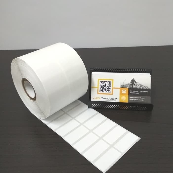 harga Label printer barcode 33x15mm - 33x15 mm - 2 line semicoated isi 5000 Tokopedia.com