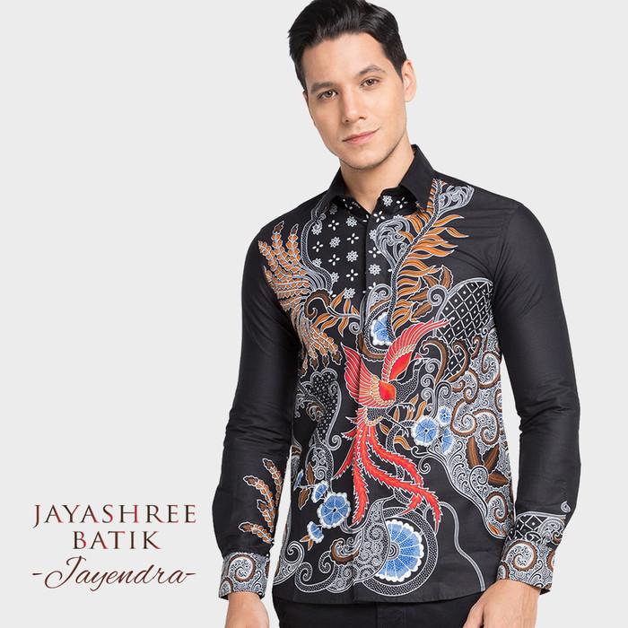 Jual Jayashree Batik Slimfit Jayendra Long Sleeve Hitam L - Kota Tangerang - Jayashree Batik | Tokopedia