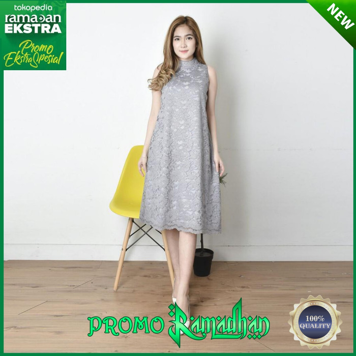 Jual Dress Brokat Modern Wanita Mewah Gaun Pesta Fashion Wanita Terbaru Grey Dki Jakarta Alfa Shop Accessories Tokopedia
