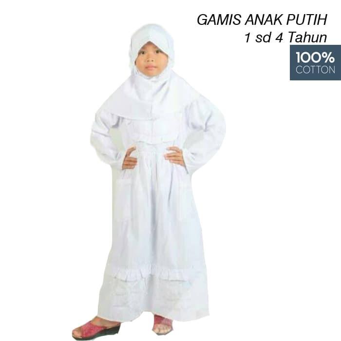 Foto Produk Gamis Anak Perempuan Putih 1 sd 4 Tahun/ Baju Manasik Haji Anak dari BABY AY SHOP