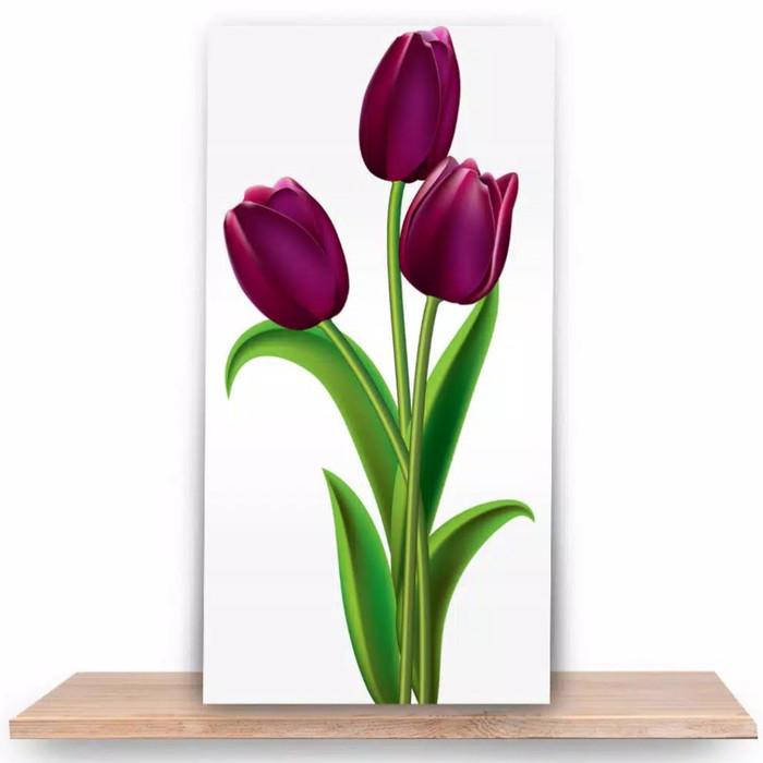 Jual Home Decoration Poster Hiasan Dinding Lukisan Bunga Tulip