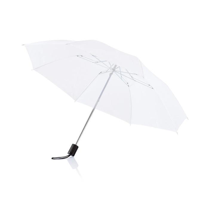 Payung lipat putih polos - white umbrella sablon logo suvenir gift