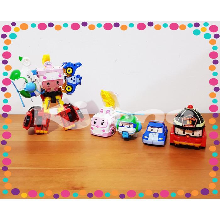 Foto Produk Mainan Anak Robocar POLI TOBOT Transform 5in1 bisa digabung jadi 1 dari KJ One