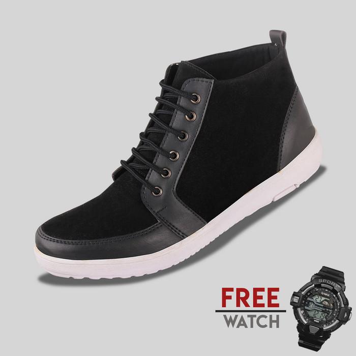 harga Sepatu casual pria svd jd-fs01 free digital watch Tokopedia.com