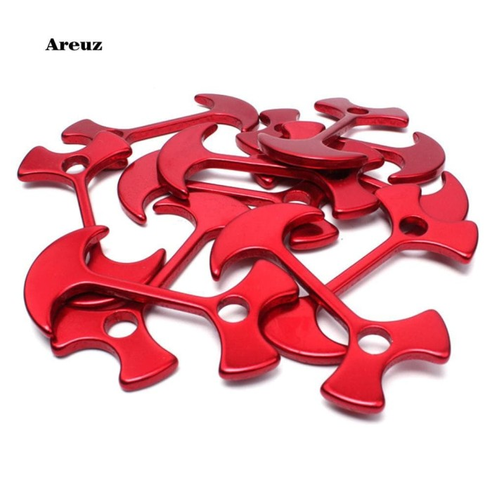 Alloy Aluminum Camping Fishbone Nail Tent Rope Stopper Anchor Peg Buckle Deck