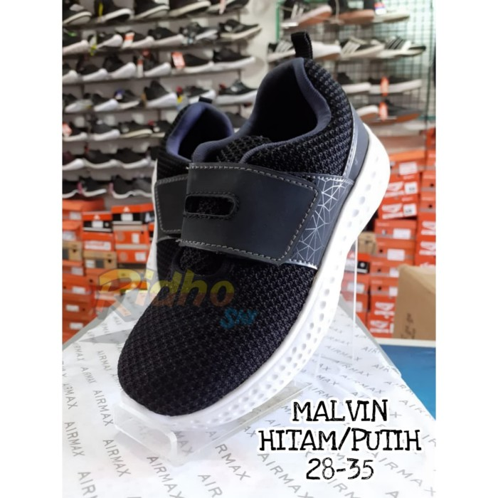 Jual Sepatu Sekolah Anak Airmax Malvin Hitam Putih 33 Kab Musi Banyuasin Ridho Sky Collection Tokopedia