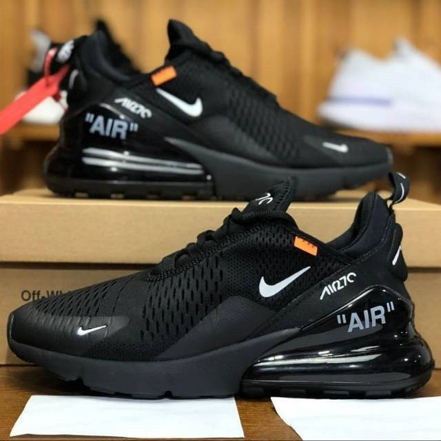 Matemáticas Remontarse Visualizar  Jual Nike Air Max 270 Triple Black X OFF White Grade Original - Jakarta  Pusat - Ruang Digital | Tokopedia