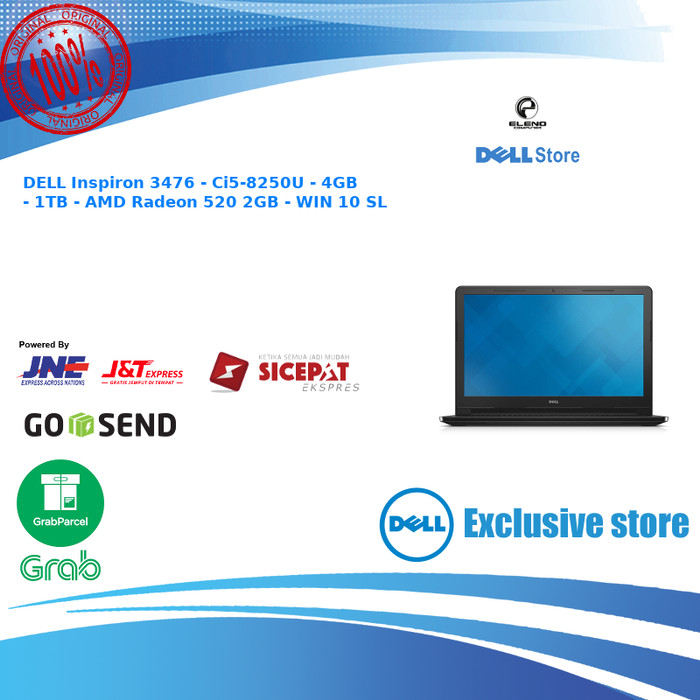 harga Dell inspiron 3476 - black - ci5 4gb 1tb amd radeon 520 2gb - win 10 Tokopedia.com
