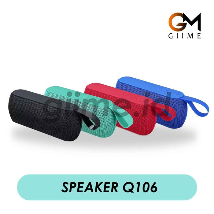 harga Speaker bluetooth wireless mini speaker q106 support flashdisk - Tokopedia.com
