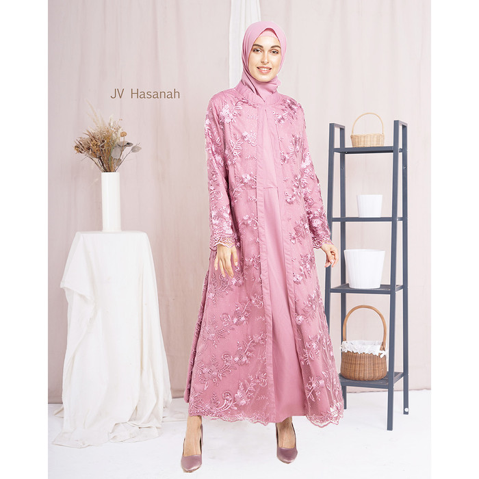 JV Hasanah Almira Tile Dress Pink