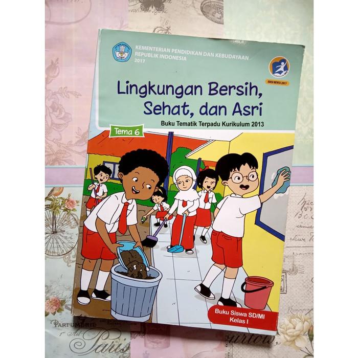 Jual Buku Tematik Tema 6 Lingkungan Bersih Sehat Dan Asri Sd Mi Kls 1 Kota Denpasar Togamas Dewata Tokopedia