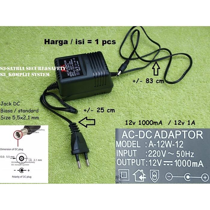 Jual ADAPTOR KEYBOARD YAMAHA PSR / ADAPTOR 12V 1A ( ADAPTOR 12V 1000mA ) -  DKI Jakarta - S3-Satria Secure&Safety | Tokopedia