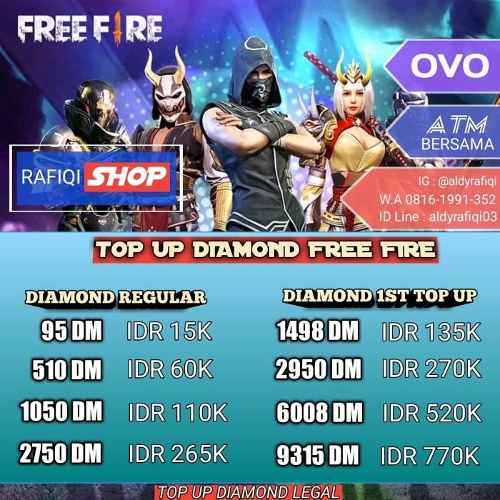 Jual DIAMOND FREE FIRE 95 - DKI Jakarta - Aldy Indo   Tokopedia