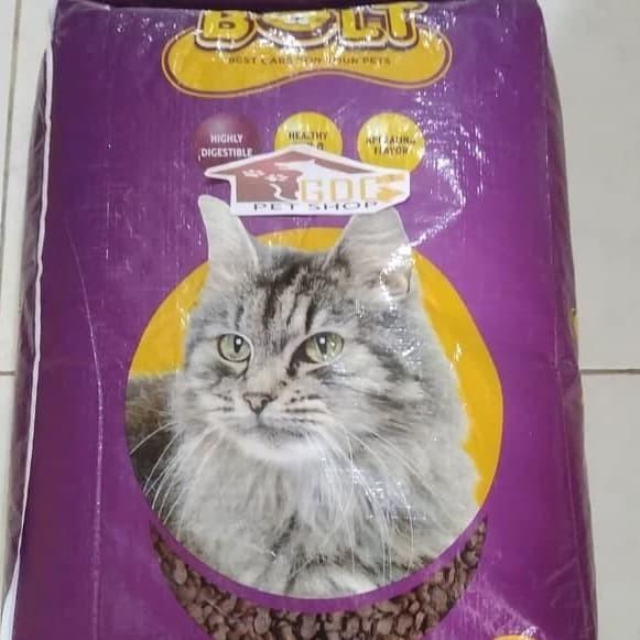 Jual Makanan Kucing Bolt 20 Kg Bentuk Ikan Khusus Go Jek Grab