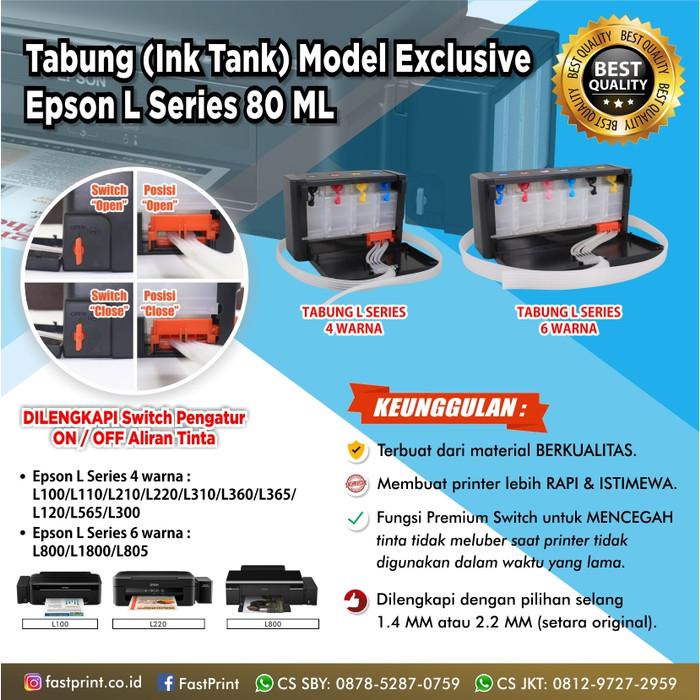 harga Tabung model l100 l110 exclusive premium switch 80ml + selang 14 mm Tokopedia.com