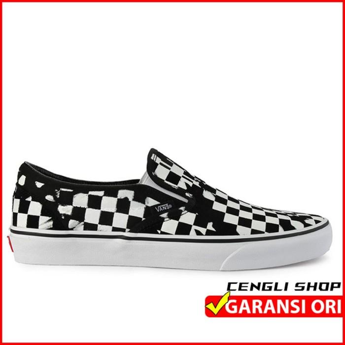 Jual Sepatu Vans Catur Original Classic Slip On Kota Medan