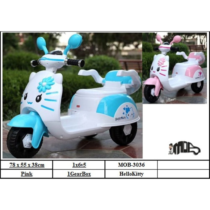 Foto Produk Mainan Motor Aki Anak Kitty MOB 3036 dari BRECHT.ID