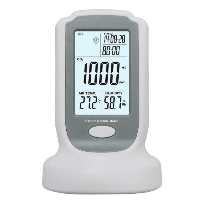 Foto Produk Terlaris GM8802 Portable Carbon Dioxide Detector Gas Alarm 0-2000ppm dari Souvenir Dompet Kosmetik