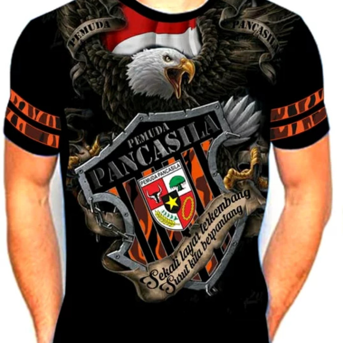Jual Kaos Pemuda Pancasila Motif Elang Kab Garut Marvelstore