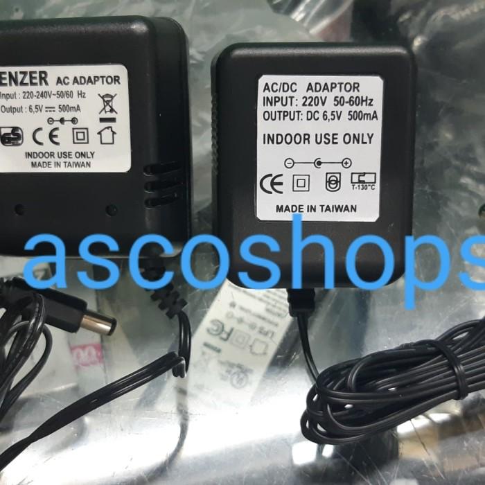 harga Adaptor 6.5v 500ma / 65 v volt 500 ma u/ cash aki mainan  dll Tokopedia.com