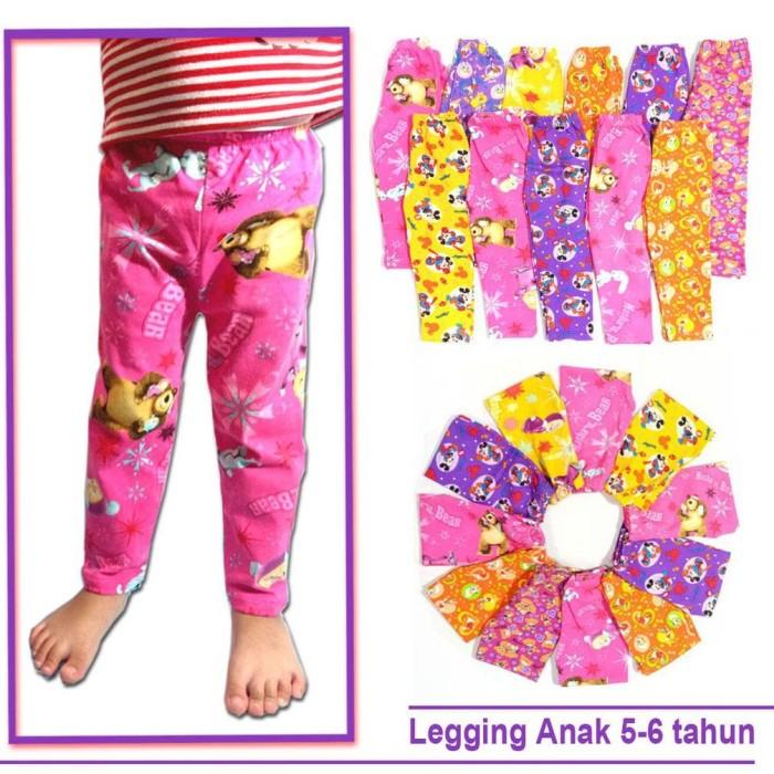 Jual Grosir Legging Anak 5 6 Tahun Celana Anak Perempuan Kab Kediri Little Bear Tokopedia