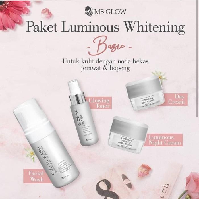 Jual Ms Glow Skincare Paket Whitening Luminous Kota Tangerang Juliashop86 Tokopedia