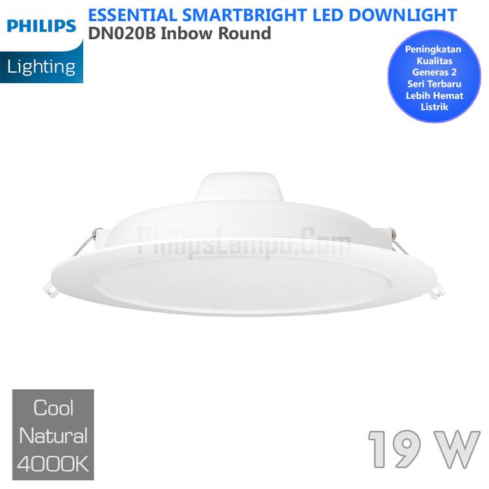 Foto Produk Lampu Downlight LED Philips 20W DN020B 20 W Cool White Natural dari philipslampu