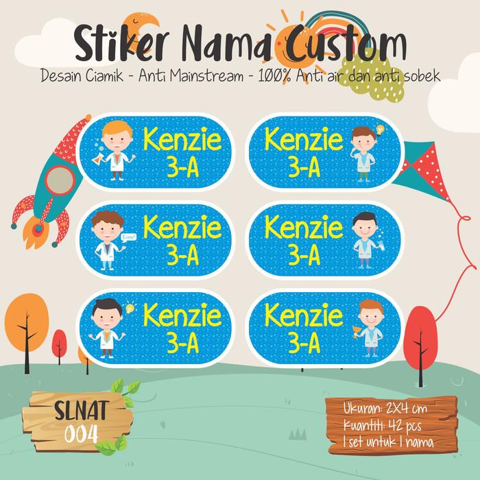 Jual Sticker Label Nama Anak Kartun Cute Lucu Prince Pangeran
