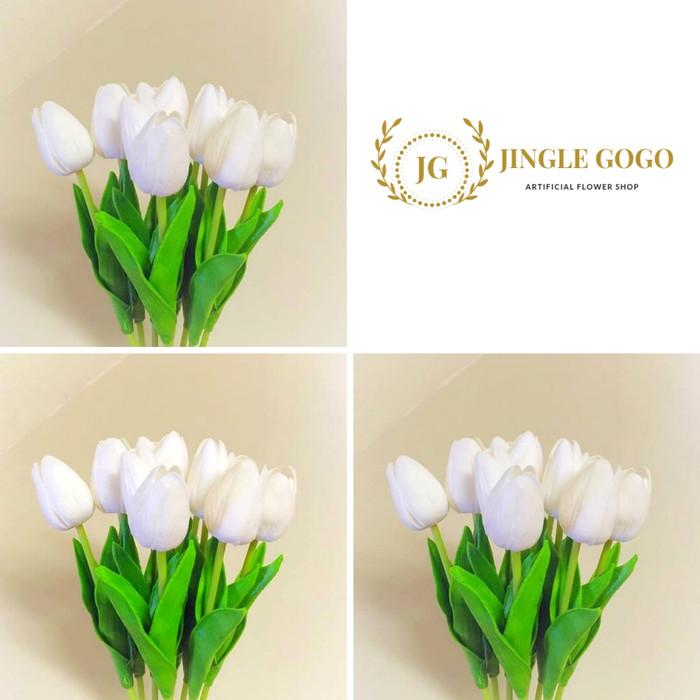 Jual Bunga Tulip Artificial Premium Latex Putih Seperti Asli Kota Depok Jingle Gogo Tokopedia