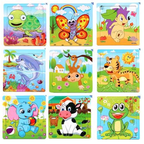 Foto Produk Puzzle Kayu / Jigsaw Puzzle 9 Pcs Melatih Koordinasi Anak - KODOK dari TweedyToys