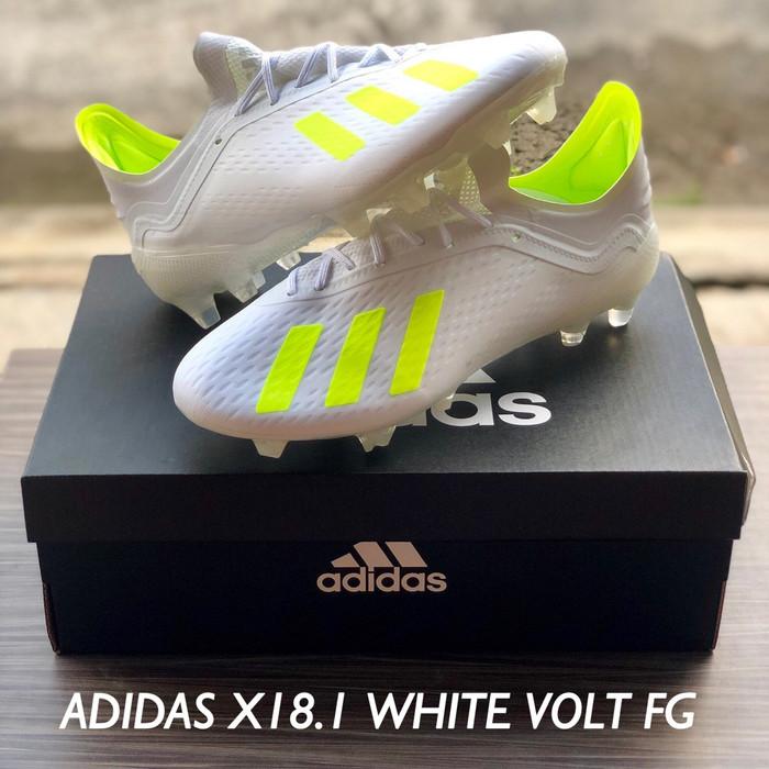 Foto Produk SEPATU BOLA ADIDAS X18.1 WHITE VOLT FG dari jerseysoccer.os