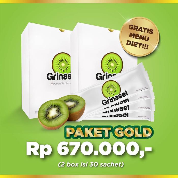 Foto Produk Grinasel Paket GOLD 2 Box - Minuman Serat menurunkan Berat badan dari DERMAGIFT CENTER
