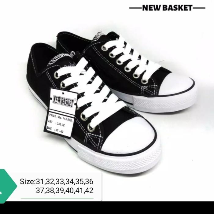 Jual Sepatu Sekolah Nb New Basket 338 Lc 0riginal Resleting Hitam